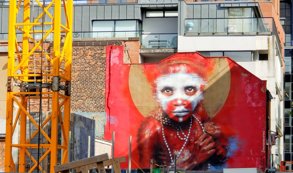 Dale Grimshaw's guest tribal portrait on Spear Street, Manchester