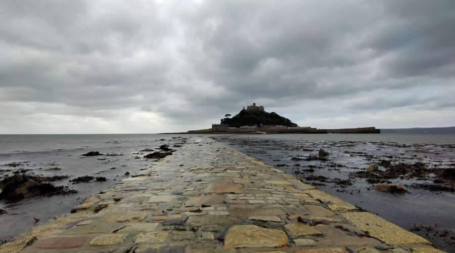 St Michael Mount, Marazion as seen from the causeway