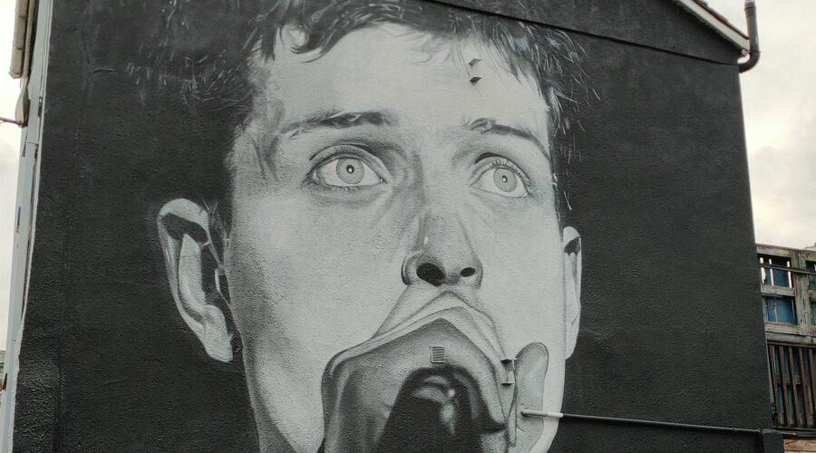 Ian Curtis Street Portrait