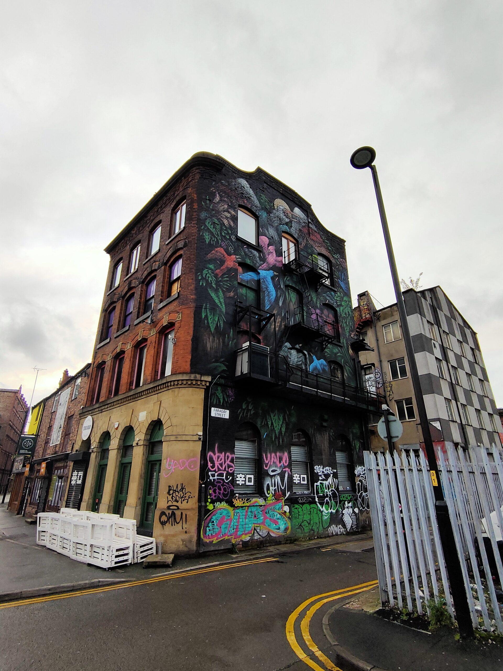 Birds Mural, Faraday Street, Manchester