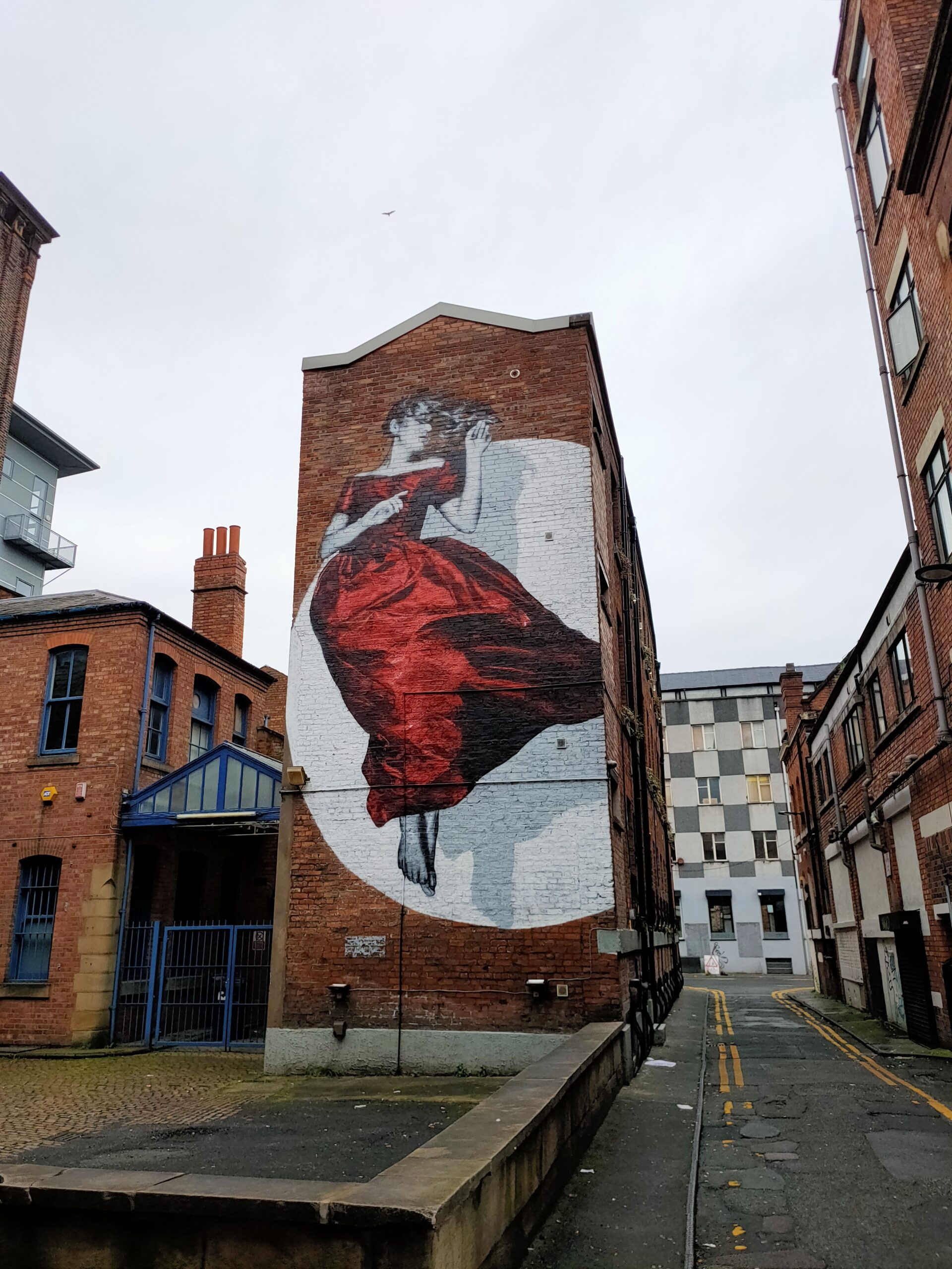 the red lady mural, Serenity