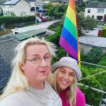 With Robyn on the roof of my house